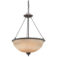 Nuvo Lighting Carousel 3 Light Pendant in Sudbury Bronze 60/4227