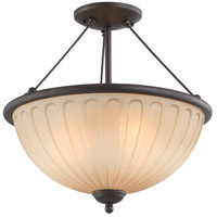 Nuvo Lighting Carousel 3 Light Semi-Flush in Sudbury Bronze 60/4228