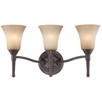 Nuvo Lighting Franklin 3 Light Vanity & Wall in Georgetown Bronze 60/4243