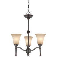 Nuvo Lighting Franklin 3 Light Chandelier in Georgetown Bronze 60/4245