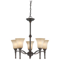 Nuvo Lighting Franklin 5 Light Chandelier in Georgetown Bronze 60/4246
