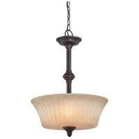 Nuvo Lighting Franklin 3 Light Pendant in Georgetown Bronze 60/4247