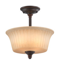 Nuvo Lighting Franklin 2 Light Semi-Flush in Georgetown Bronze 60/4248