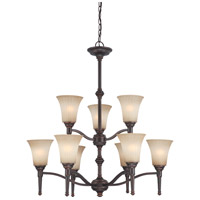 Nuvo Lighting Franklin 9 Light Chandelier in Georgetown Bronze 60/4249 photo thumbnail