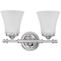 Teller 2 Light 14 inch Polished Chrome Vanity & Wall Wall Light