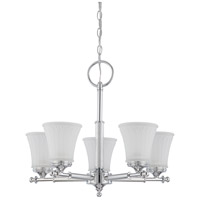 Nuvo 60/4265 Teller 5 Light 22 inch Polished Chrome Chandelier Ceiling Light