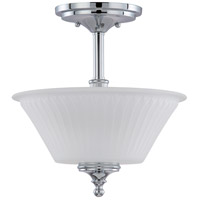 Nuvo Lighting Teller 2 Light Semi-Flush in Polished Chrome 60/4268