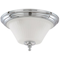 Teller 3 Light 15 inch Polished Chrome Flushmount Ceiling Light
