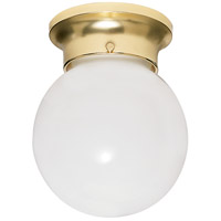 Signature 1 Light 8 inch Polished Brass Flushmount Ceiling Light