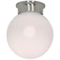 Nuvo Lighting Signature 1 Light Flushmount in Brushed Nickel 60/432