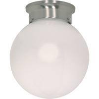 Nuvo 60/432 Signature 1 Light 8 inch Brushed Nickel Flushmount Ceiling Light