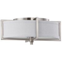 Nuvo 60/4348 Portia 2 Light 11 inch Brushed Nickel Flushmount Ceiling Light photo thumbnail