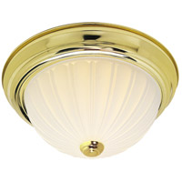 Signature 1 Light 11 inch Polished Brass Flushmount Ceiling Light