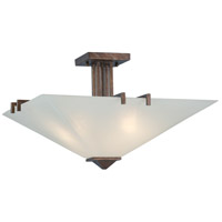 Nuvo Lighting Ratio 3 Light Semi-Flush in Inca Gold 60/4406
