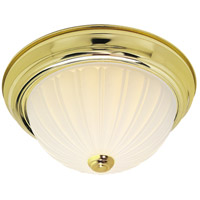 Nuvo Lighting Signature 2 Light Flushmount in Polished Brass 60/441