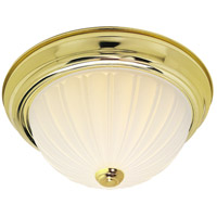 Nuvo Lighting Signature 2 Light Flushmount in Polished Brass 60/442