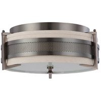 Diesel 3 Light 16 inch Hazel Bronze Flushmount Ceiling Light