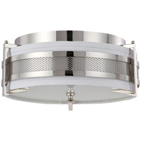 Diesel 3 Light 16 inch Polished Nickel Flushmount Ceiling Light
