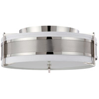 Diesel 4 Light 24 inch Polished Nickel Flushmount Ceiling Light