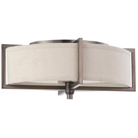 Portia 2 Light 11 inch Hazel Bronze Flushmount Ceiling Light