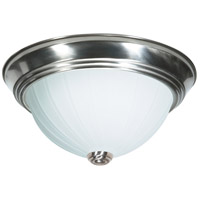 Nuvo Lighting Signature 1 Light Flushmount in Brushed Nickel 60/446