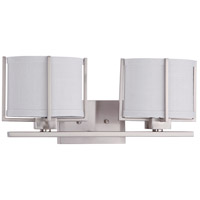 Nuvo Lighting Portia 2 Light Vanity & Wall in Brushed Nickel 60/4462