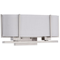 Nuvo 60/4464 Portia 2 Light 17 inch Brushed Nickel Wall Sconce Wall Light
