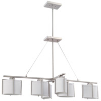 Nuvo Lighting Portia 6 Light Pendant in Brushed Nickel 60/4471