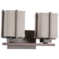 Nuvo Lighting Logan 2 Light Vanity & Wall in Hazel Bronze 60/4482