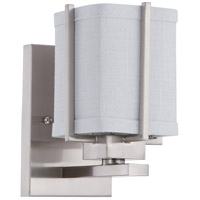 Nuvo Lighting Logan 1 Light Vanity & Wall in Brushed Nickel 60/4501