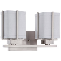 Nuvo Lighting Logan 2 Light Vanity & Wall in Brushed Nickel 60/4502