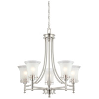 Nuvo Lighting Patrone 5 Light Chandelier in Brushed Nickel 60/4525