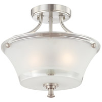 Nuvo Lighting Patrone 2 Light Semi-Flush in Brushed Nickel 60/4528