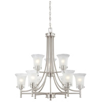 Nuvo Lighting Patrone 9 Light Chandelier in Brushed Nickel 60/4529
