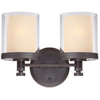 Nuvo Lighting Decker 2 Light Vanity & Wall in Sudbury Bronze 60/4542