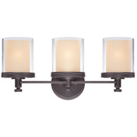 Nuvo Lighting Decker 3 Light Vanity & Wall in Sudbury Bronze 60/4543