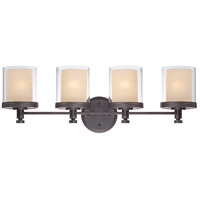 Nuvo Lighting Decker 4 Light Vanity & Wall in Sudbury Bronze 60/4544