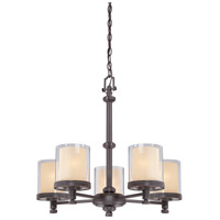 Nuvo 60/4545 Decker 5 Light 25 inch Sudbury Bronze Chandelier Ceiling Light
