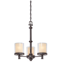 Decker 3 Light 20 inch Sudbury Bronze Chandelier Ceiling Light