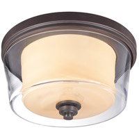 Decker 3 Light 16 inch Sudbury Bronze Flushmount Ceiling Light