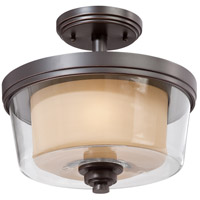 Nuvo Lighting Decker 2 Light Semi-Flush in Sudbury Bronze 60/4553 photo thumbnail