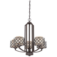 Nuvo Lighting Margaux 5 Light Chandelier in Patina Bronze 60/4565 photo thumbnail