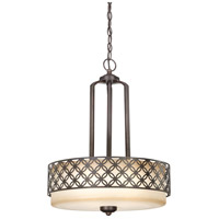 Nuvo Lighting Margaux 3 Light Pendant in Patina Bronze 60/4566
