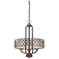 Nuvo Lighting Margaux 3 Light Chandelier in Patina Bronze 60/4567 photo thumbnail