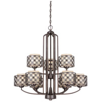 Nuvo Lighting Margaux 9 Light Chandelier in Patina Bronze 60/4569