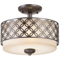 Nuvo Lighting Margaux 2 Light Semi-Flush in Patina Bronze 60/4572