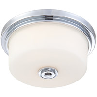 Soho 2 Light 13 inch Polished Chrome Flushmount Ceiling Light