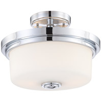 Soho 2 Light 13 inch Polished Chrome Semi-Flush Ceiling Light