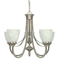 Triumph 5 Light 24 inch Brushed Nickel Chandelier Ceiling Light
