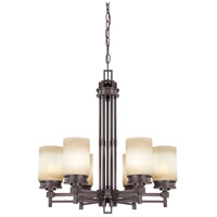 Nuvo Lighting Wright 6 Light Chandelier in Prairie Bronze 60/4605